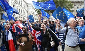 Anti-Brexit march in London, September 2016.