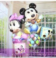 5 шт./лот микки маус день рождения воздушный шар свадьба воздушный шар детям игрушки воздушный шар алюминиевой пленки воздушный шар принцесса