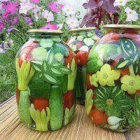 Консервирование огурцов и помидоров