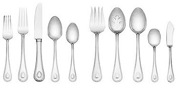 French Perle Silverware from Lenox.