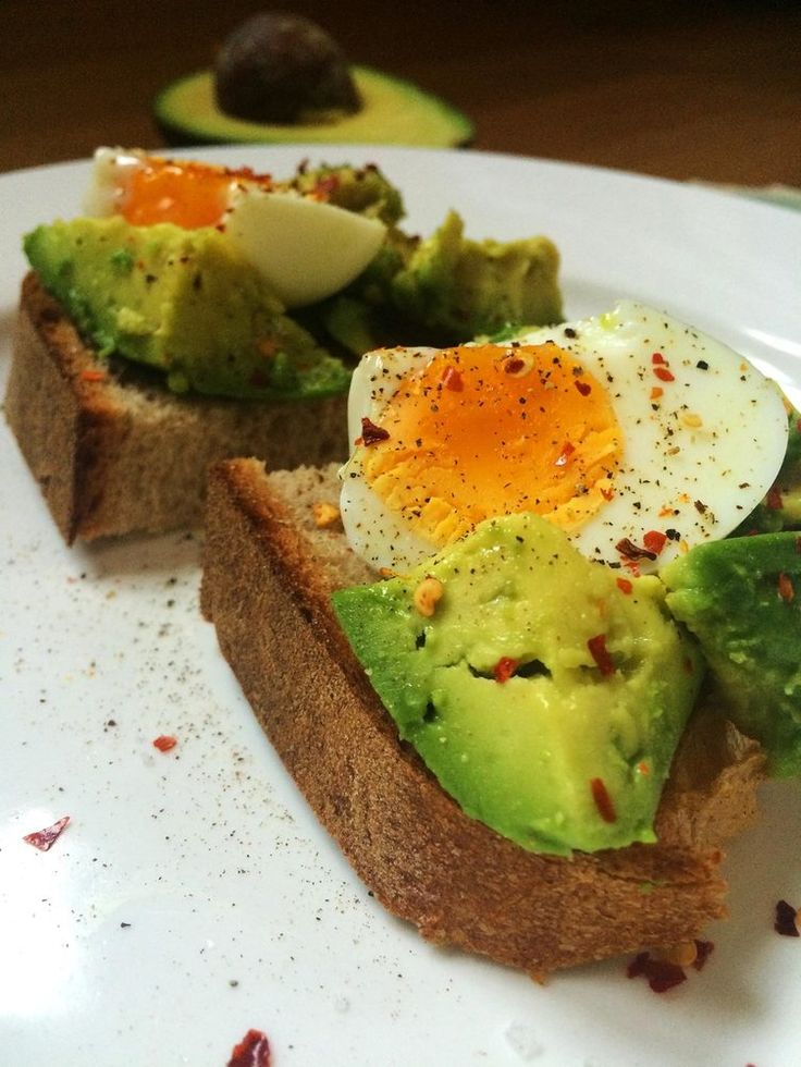11. Hard-Boiled Egg Avo Toast http://greatist.com/fitness/50-awesome-pre-and-post-workout-snacks