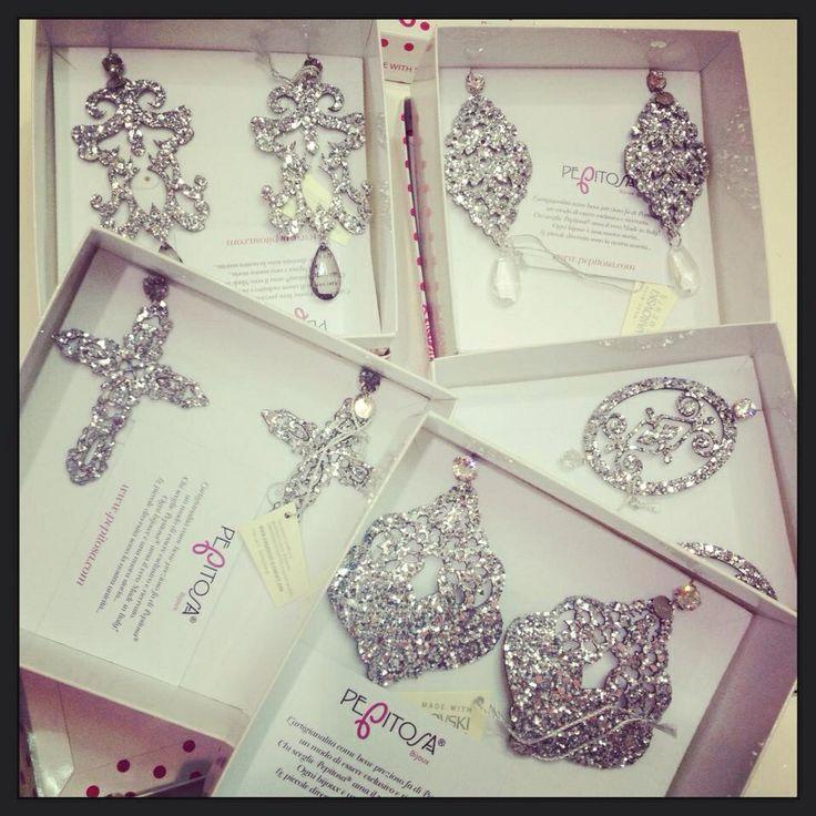 Mix silver earrings #earrings #bijoux #glitter
