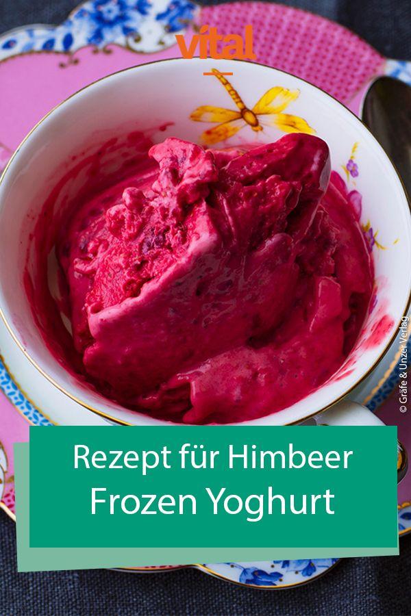 Rezept für Himbeer Frozen Yoghurt