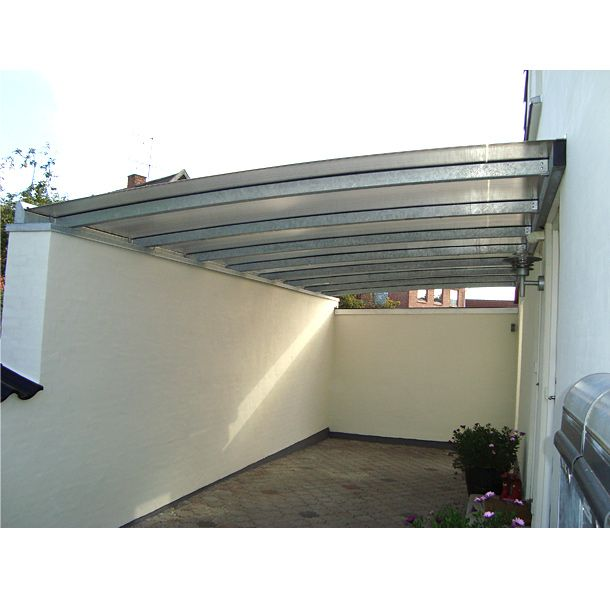 Carport Dach besonders dünn, Tonnendach 1