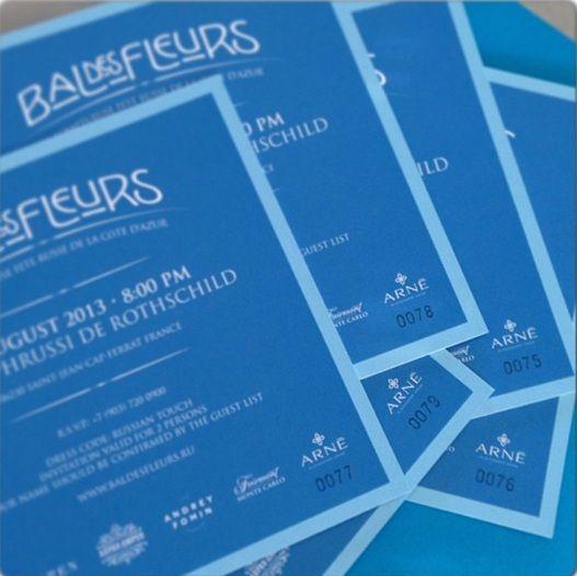Приглашения на великолепного Bal De Fleur (Бала Цветов) на знаменитой вилле Ротшильдов Villa Ephrussy de Rothschild на Кап Ферра. В этом году ювелирный Дом Alexander ARNE впервые выступил партнером мероприятия