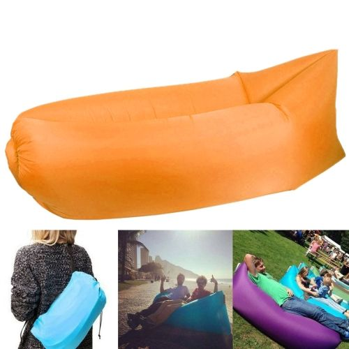 [€7.35] Inflatable Lounger Nylon Fabric Compression Air Bag Sofa for Beach / Travelling / Hospitality / Fishing, Size: 185cm x 75cm x 50cm, Normal Quality(Orange)