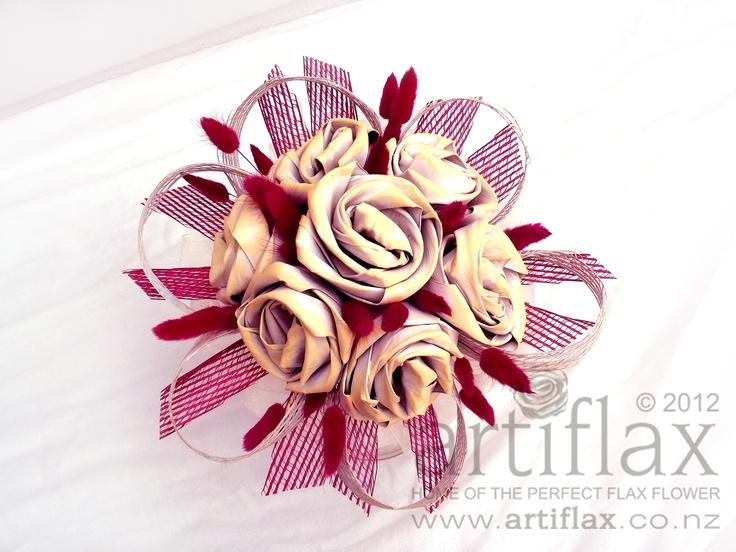 Flax flower bouquet by Artiflax