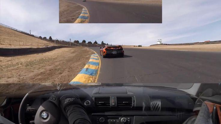 McLaren 675LT vs. BMW 135i auf der Rennstrecke.