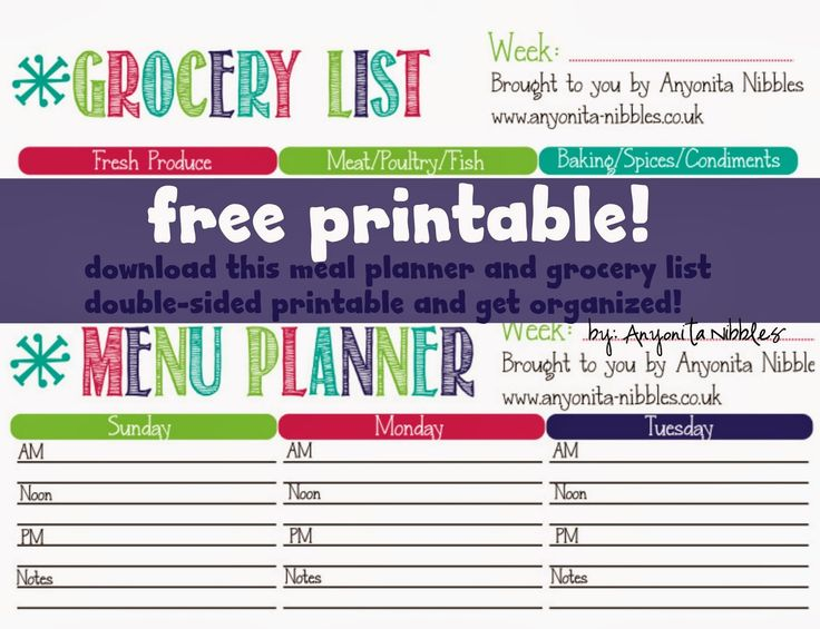 99 best All Manner of Printables images on Pinterest Doodles - grocery templates free
