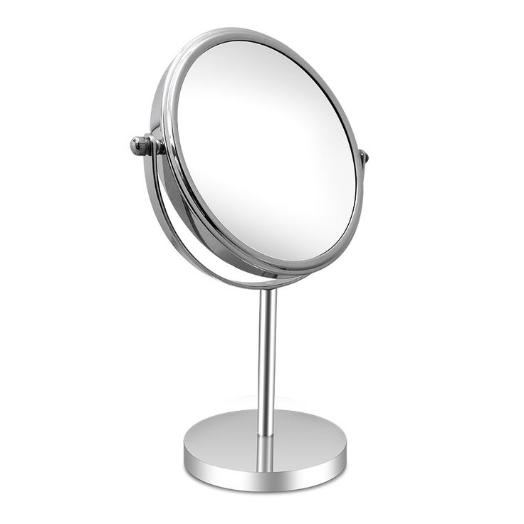AMZTOLIFE 7 Inch Round Shape Makeup Mirror Double Sided 3x Magnification Polished Chrome Finish for Beauty Bedroom Shaving Traveling. Using European-style mirror technology, 1: 1 high-definition stainless steel plated mirror, no deformation, according to the real oneself. Eight-layer plating, the reflectivity of 99.9%, comparable to 3 million pixels, enjoy high-definition horizon. 360 Degree Rotation. Can fix at any position to give you the perfect viewing angle. Tri-fold and detachable...