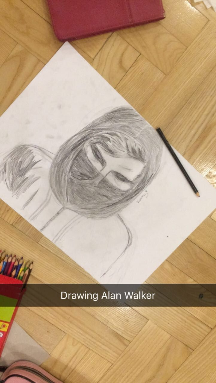Alan Walker drawing in process 😄