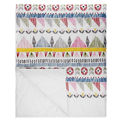 Buy little home at John Lewis Geo Quilted Bedspread Online at johnlewis.com