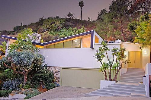 Architect Bill Krisel of Palm Springs' Palmer & Krisel designed this home for Bobby Darin and Sandra Dee in 1955.