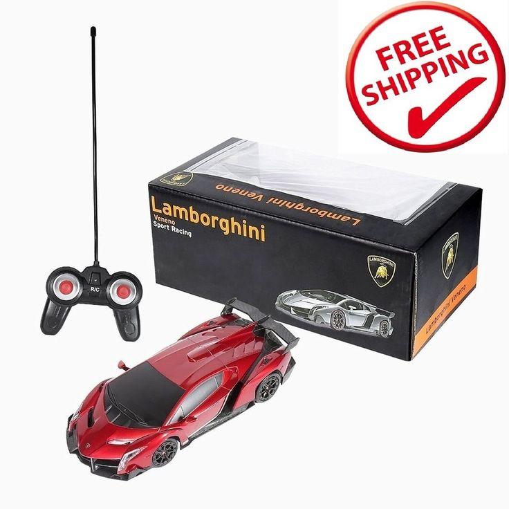 RC Sport Racing Car Lamborghini Veneno 1/24 Scale Car Fast Radio Remote Control…