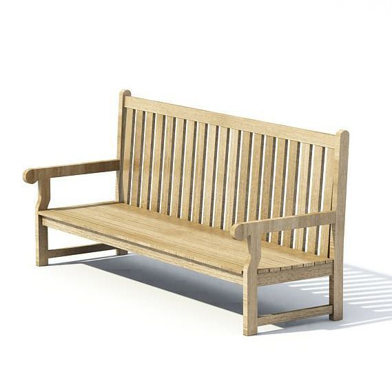 Pleasing Wooden Park Bench By Evermotion High Detailed Model Of Andrewgaddart Wooden Chair Designs For Living Room Andrewgaddartcom