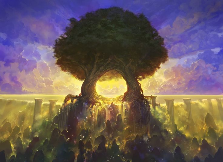 Temple of Mystery, an art print by Noah Bradley - INPRNT