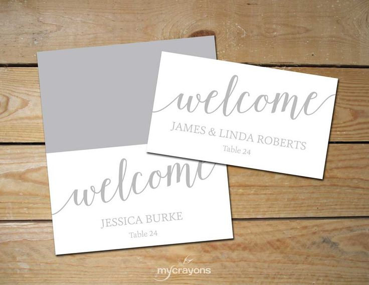 The 25+ best Place card template ideas on Pinterest | Diy wedding ...