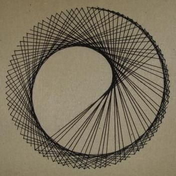 How to Create Parabolic Curves Using Straight Lines (String art -- circa 1979!)