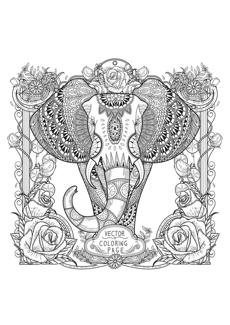 1000 id es sur le th me coloriage elephant sur pinterest. Black Bedroom Furniture Sets. Home Design Ideas