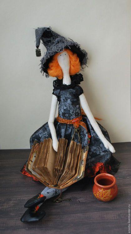 Куклы Тильды ручной работы. Кукла Ведьмочка. В стиле Тильда. Катерина. Интернет-магазин Ярмарка Мастеров. Серый, кукла