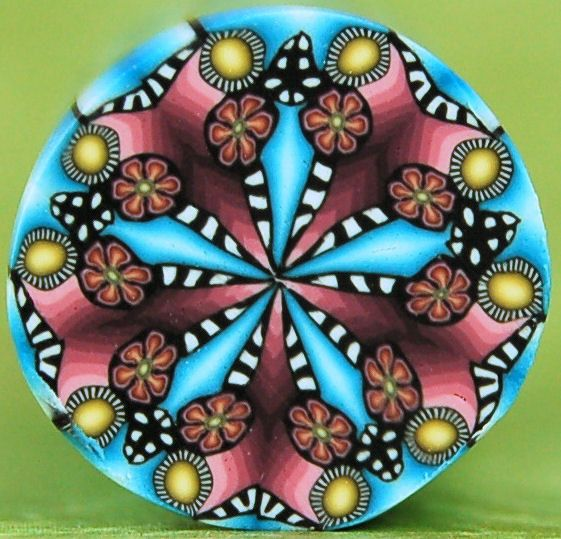 Polymer Clay Mini Kaleidoscope Cane by ikandiclay on Etsy,