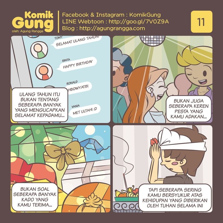 Komik – Selamat ulang tahun, Gung! Hmm, harapan saya untuk tahun ini, semoga…
