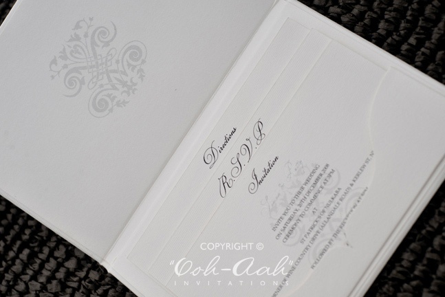 Hard Cover Wedding Invitations Sydney designed by Ooh-Aah Invitations, wedding stationery sydney, hard cover invitations , wedding invitation cards