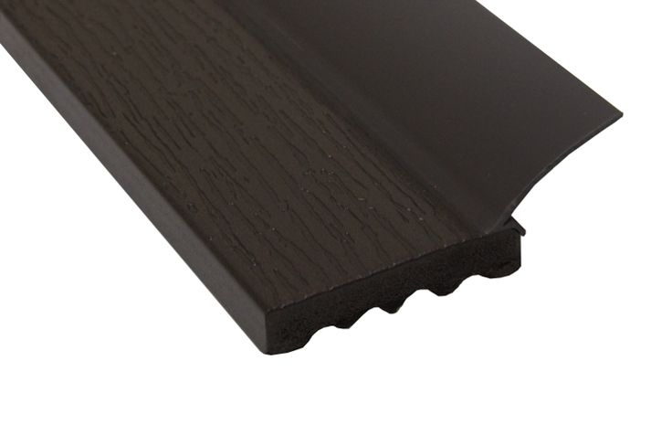 Pvc stop molding solid 2 chocolate brown part sts for Garage door stop molding weather seal