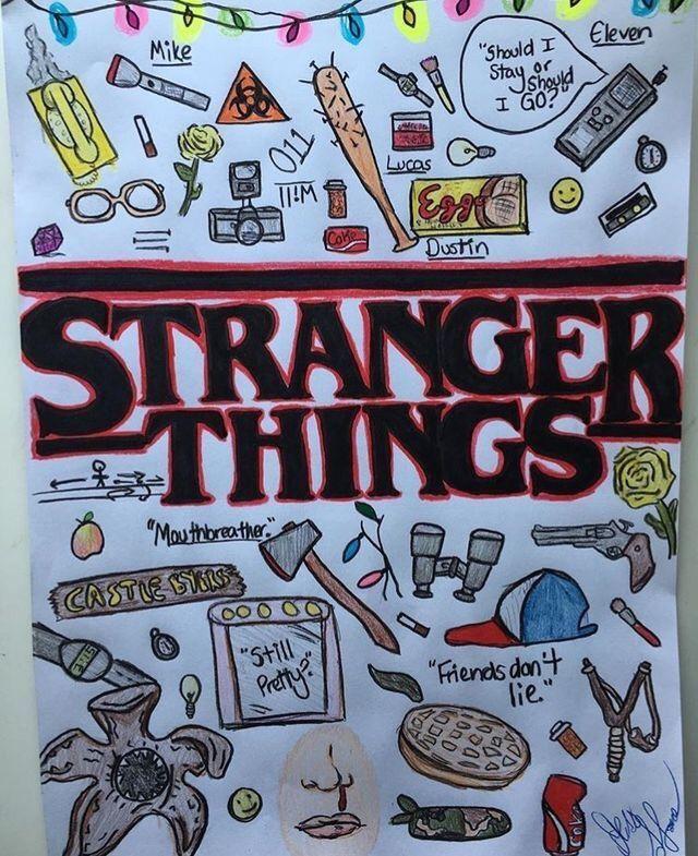 Resultado De Imagen Para Dibujos Kawaii De Stranger Things Stranger Things Wallpaper Dibujos Kawaii Dibujos Bonitos Para Dibujar