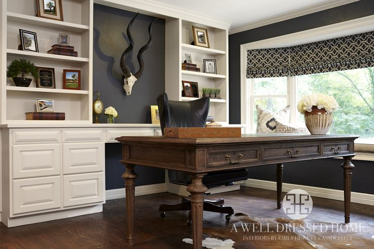 Kling Masculine Home Office After - A Well Dressed Home