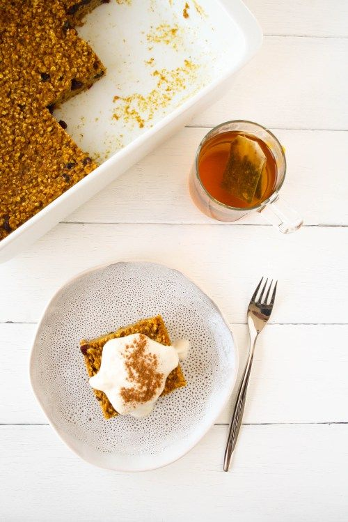 Easy Mornings: Baked Pumpkin Oatmeal · Homemade Deliciousness