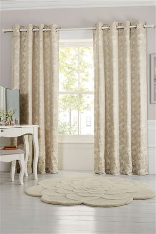 Buy Cow Parsley Jacquard Eyelet Curtains from the Next UK online shop