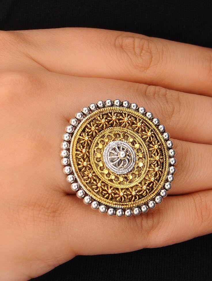 Buy Ethno Adjustable Silver Ring Online at Jaypore.com