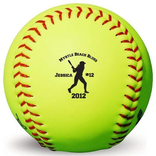 Personalized Softballs | Custom Softballs | Softball Trophies and Awards