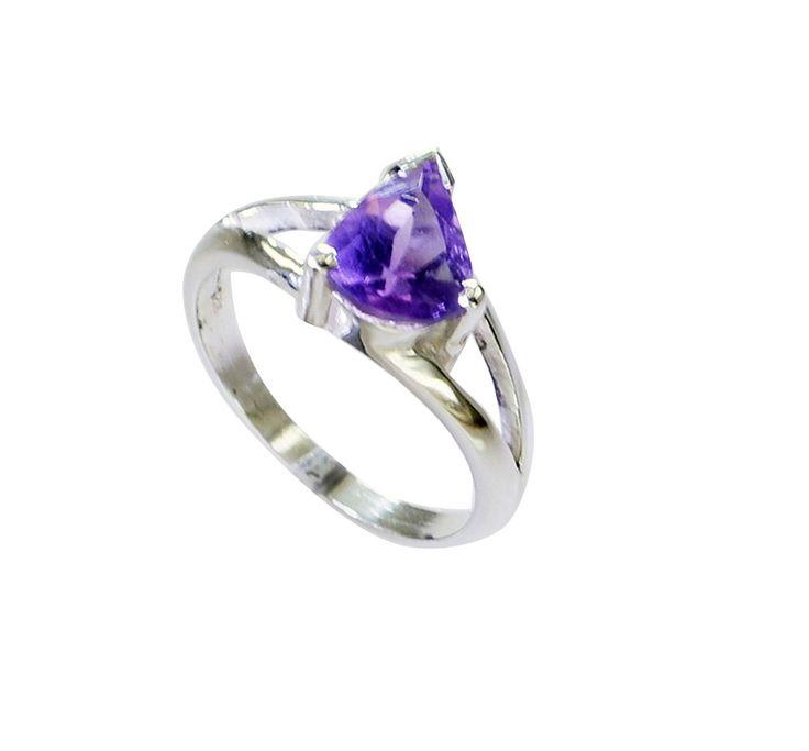 Riyo ametista per bambini anello in argento gioielli in lutto tg 5 srame5-2159