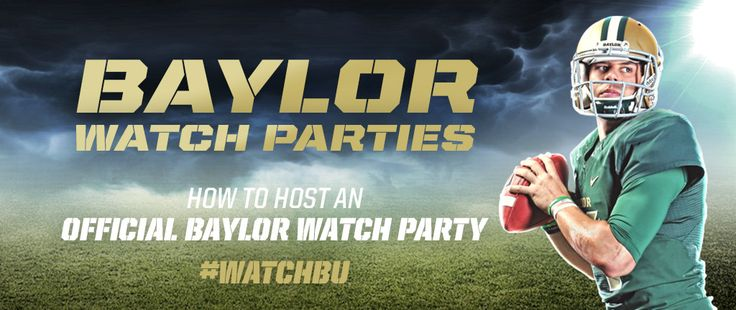 Find a #WatchBU party in your city (or learn how to help get one started). // #SicEm #BaylorWatchbu Parties, Watches Parties, Baylor Athletic, Baylor Stuff, Sicem Baylor