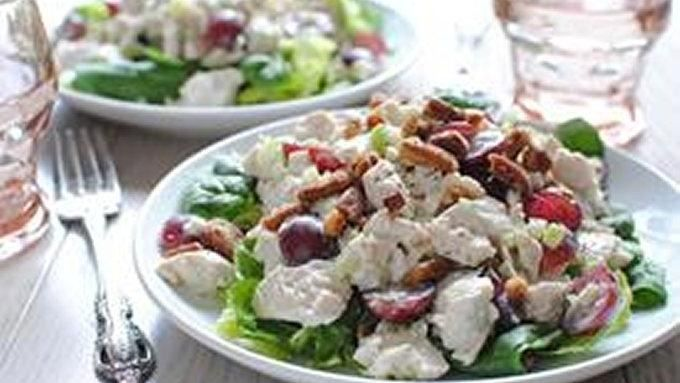 This chicken salad with Greek Yogurt is like the freon of food. No, really.
