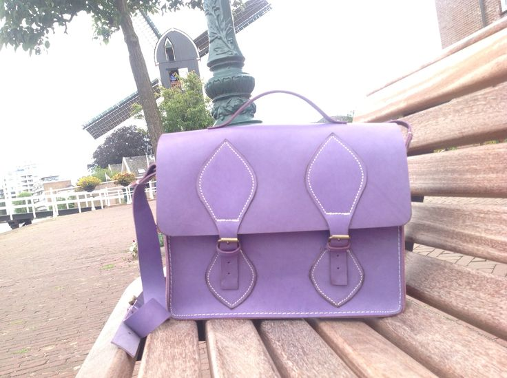 Purple cambrige satchel