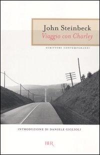 """Viaggio con Charley di John Steinbeck - E' il viaggio dell'autore attravero gli Stati Uniti sula """"Ronzinante"""", un'auto-roulotte super accessoriata. Compagno di viaggio è il suo cane Charley, un barboncino francese, ammalato di prostatite, che risponde ai comandi solamente in francese e ha i modi di un vecchio gentiluomo."""