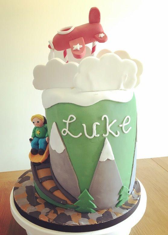 Mountain toboggan airplane cake  #mountaincake #airplanecake #toboggan #aeroplanecake