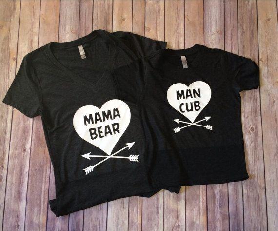 Mama bear/Man cub shirts by SewCr8tivechic on Etsy