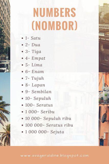 #malay #language #malaysia #bahasa #melayu #numbers #nombor