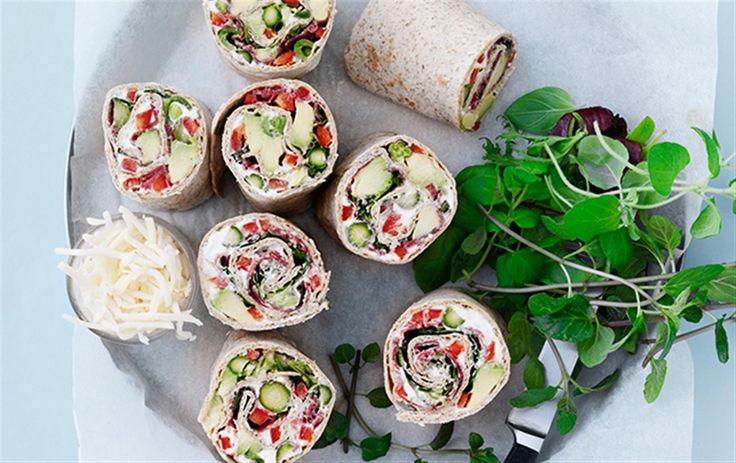 Wraps med grønne lækkerier