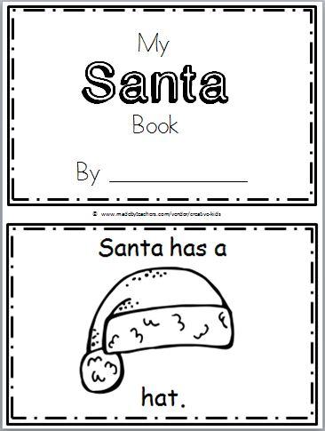 Santa Mini-Book for Christmas Time