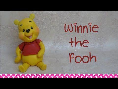 Winnie the Pooh Cake Topper Tutorial How to Make - Come fare Winnie the Pooh in pasta di zucchero - YouTube