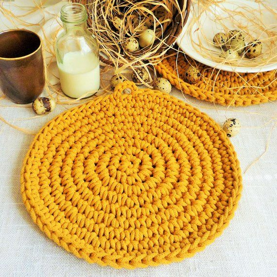 Dusty Pink Round Place Mats For Table Crochet Place Mats Etsy Crochet Fall Decor Rustic Placemats Mustard Yellow Decor