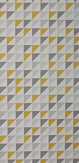 Papier peint Monza gris jaune et blanc