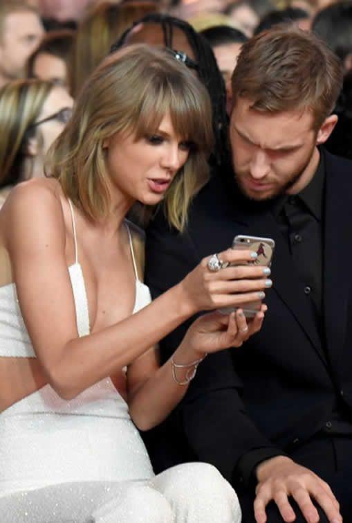 Taylor Swift and Calvin Harris..