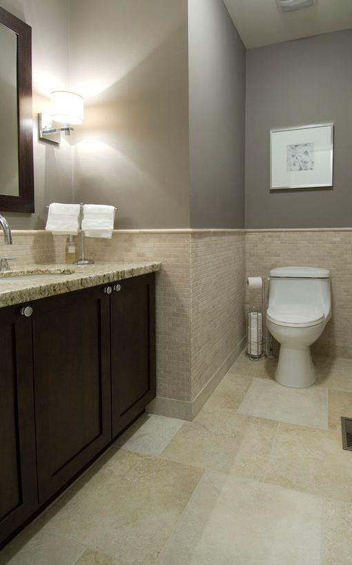 Small Bathroom Tile Looks : How to make a small bathroom appear larger with tile love