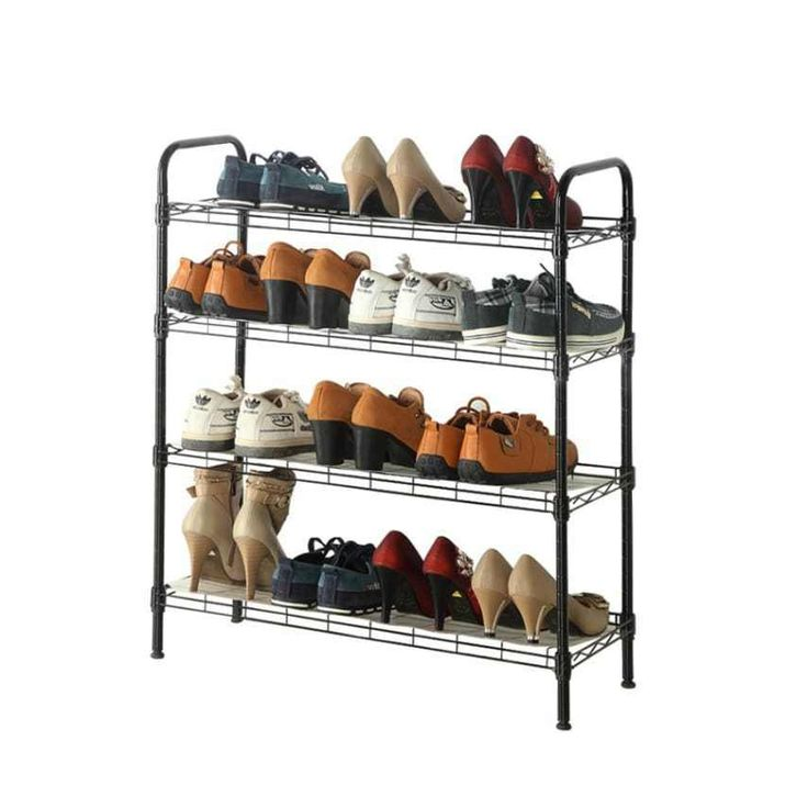 4-Tier Steel Shoe Rack Storage Portable Organizer bookshelf In Closet Wardrobe  #Homfa